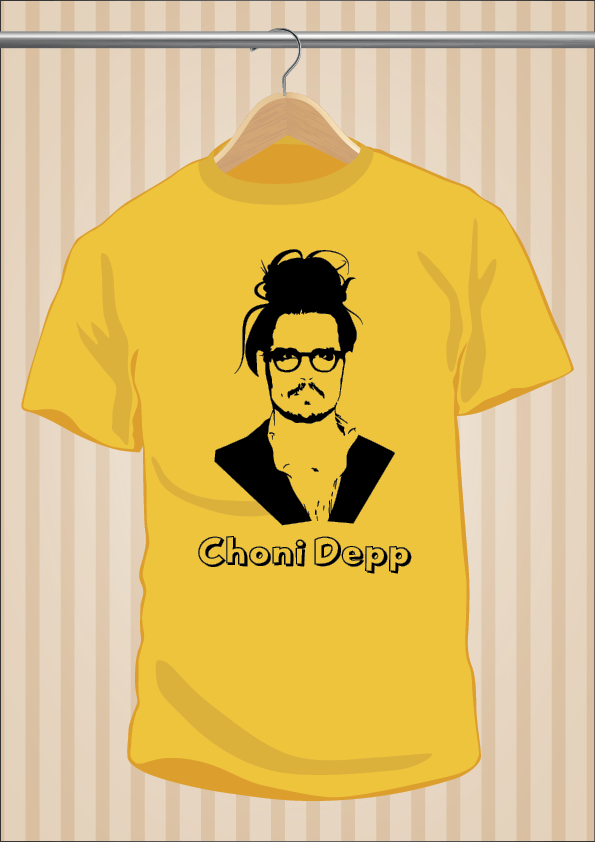 Camiseta Johnny Depp - Choni Depp - UppStudio - Barata