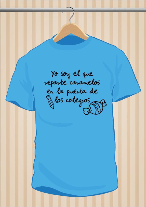 Camiseta Yo soy el que reparte caramelos en la puerta de los colegios - UppStudio