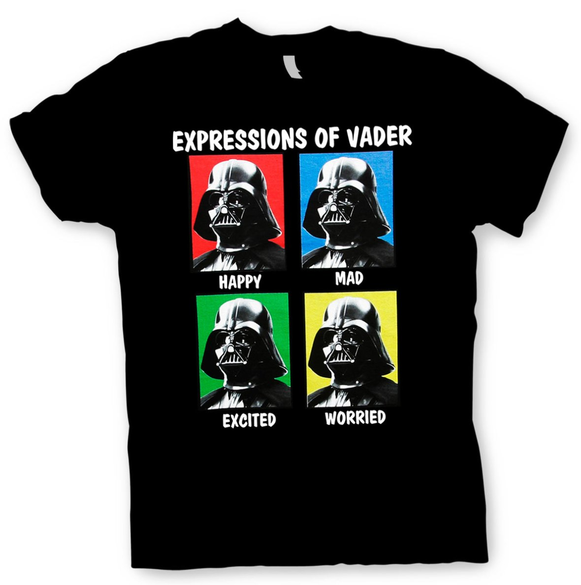 Camiseta Expressions of Darth Vader