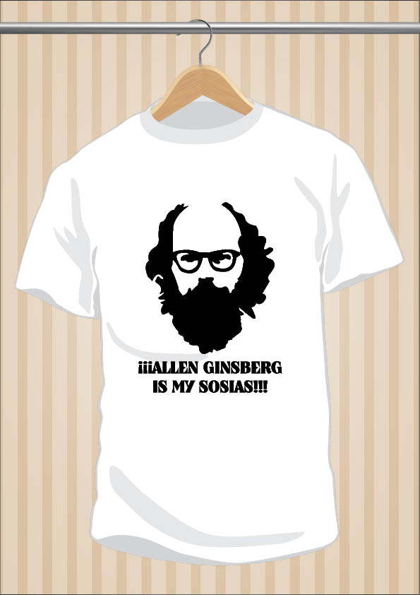 Camiseta Allen Ginsberg Is My Sosias - Ignatius Farray - UppStudio