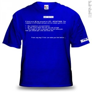 Camiseta Pantallazo Azul Windows