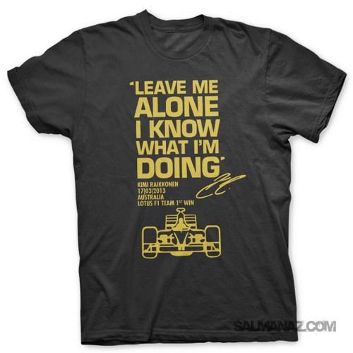 Camiseta Kimi Raikkonen | Leave Me Alone F1