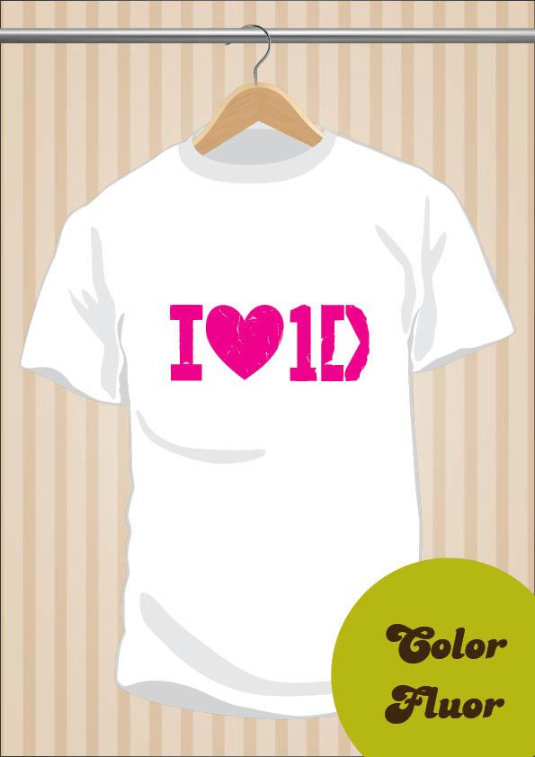 Camiseta I Love One Direction - UppStudio