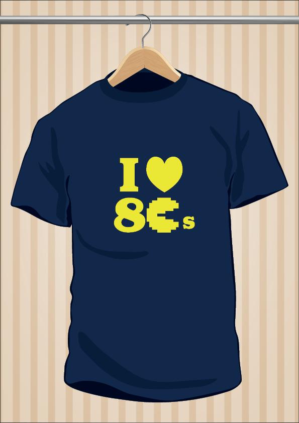 Camiseta Ochentera I Love 80's - UppStudio