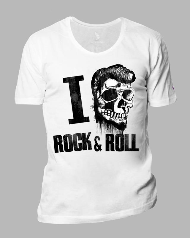 Camiseta I Love Rock And Roll