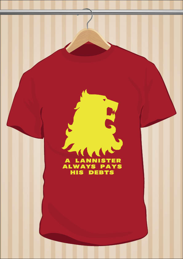 Camiseta A Lannister Always Pays His Debts - UppStudio