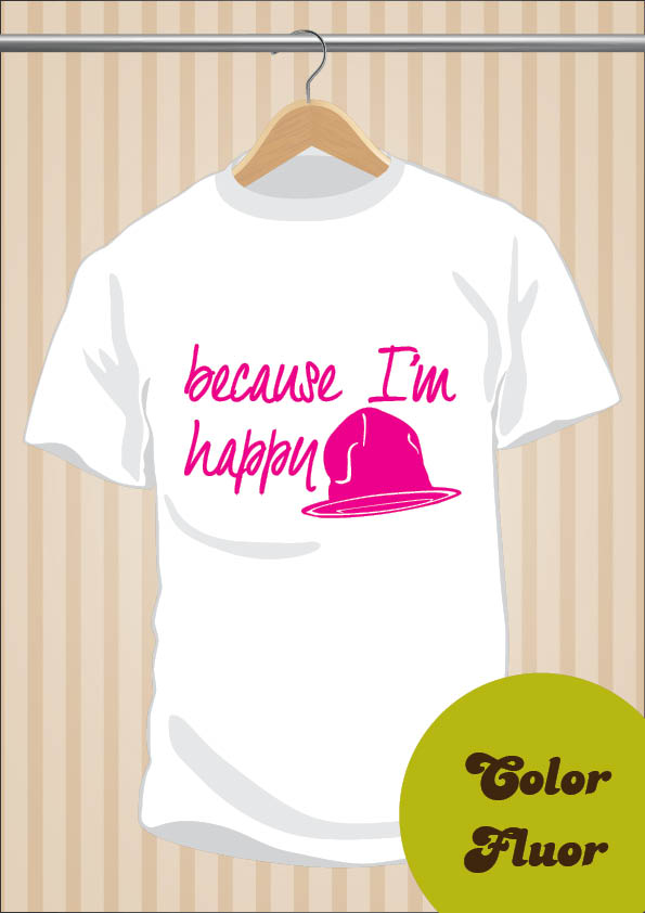 Camiseta Pharrell Williams | Because I'm Happy
