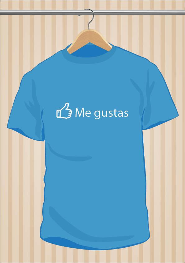 Camiseta Facebook | Me Gustas | UppStudio