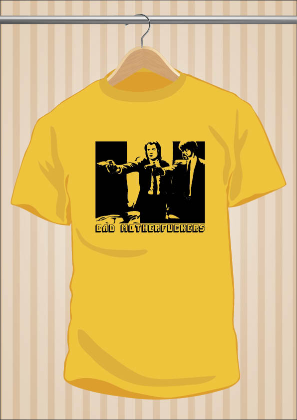 Camiseta Pulp Fiction | Bad Motherfuckers | UppStudio