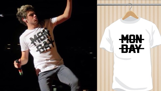 Camiseta Monday | Niall Horan | One Direction 1D | UppStudio