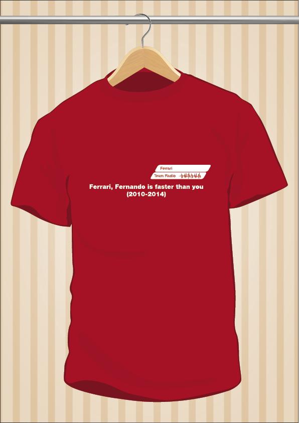 Camiseta Ferrari, Fernando Is Faster Than You | UppStudio