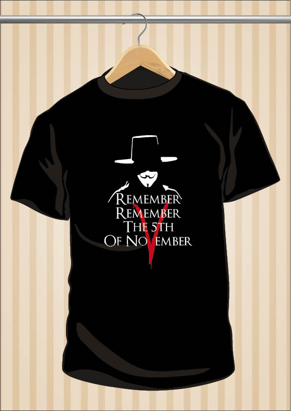 Camiseta V de Vendetta | Remember | UppStudio