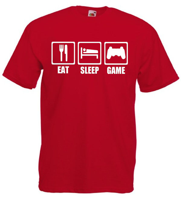 Camiseta Eat, Sleep, Game
