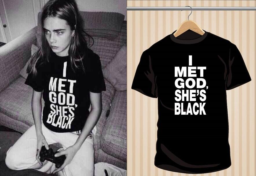 Camiseta I Met God, She's Black | UppStudio