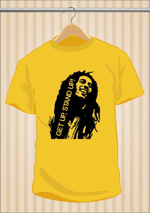Camiseta Bob Marley | Get Up Stand Up | UppStudio