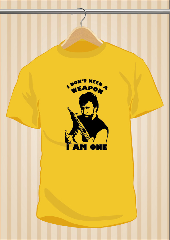Camiseta Chuck Norris | I Don't Need a Weapon, I am one | UppStudio