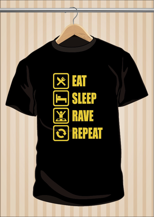 Camiseta Eat Sleep Rave Repeat | UppStudio