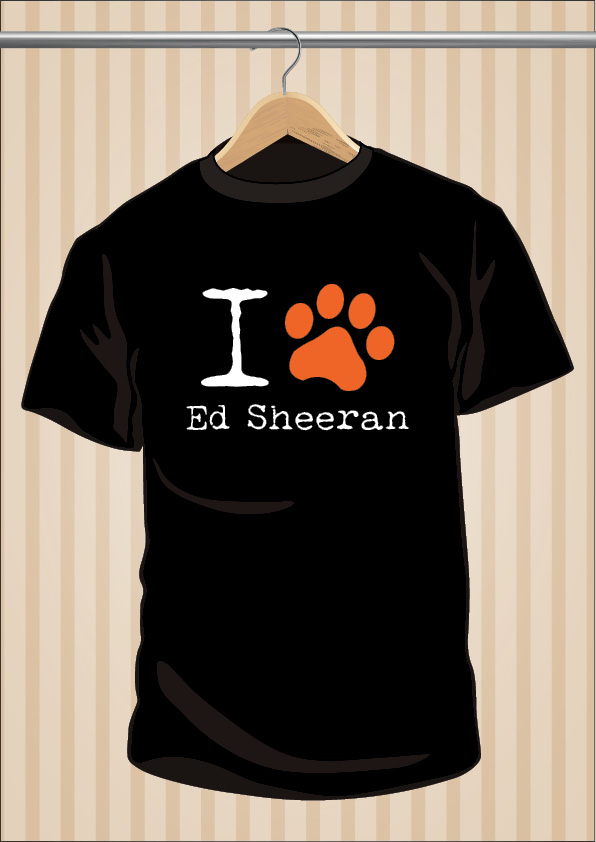 Camiseta I Love Ed Sheeran | UppStudio