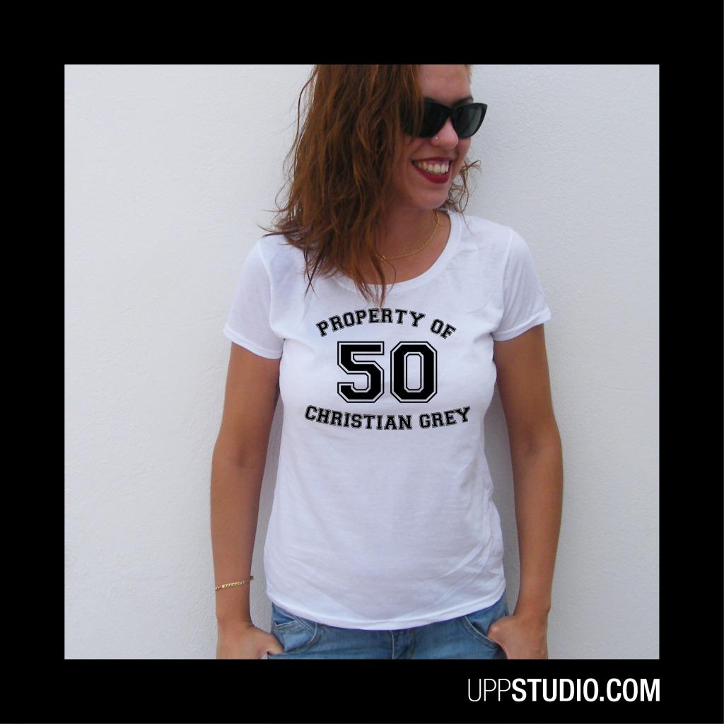 Camiseta 50 Sombras de Grey Property Of Christian Grey   UppStudio