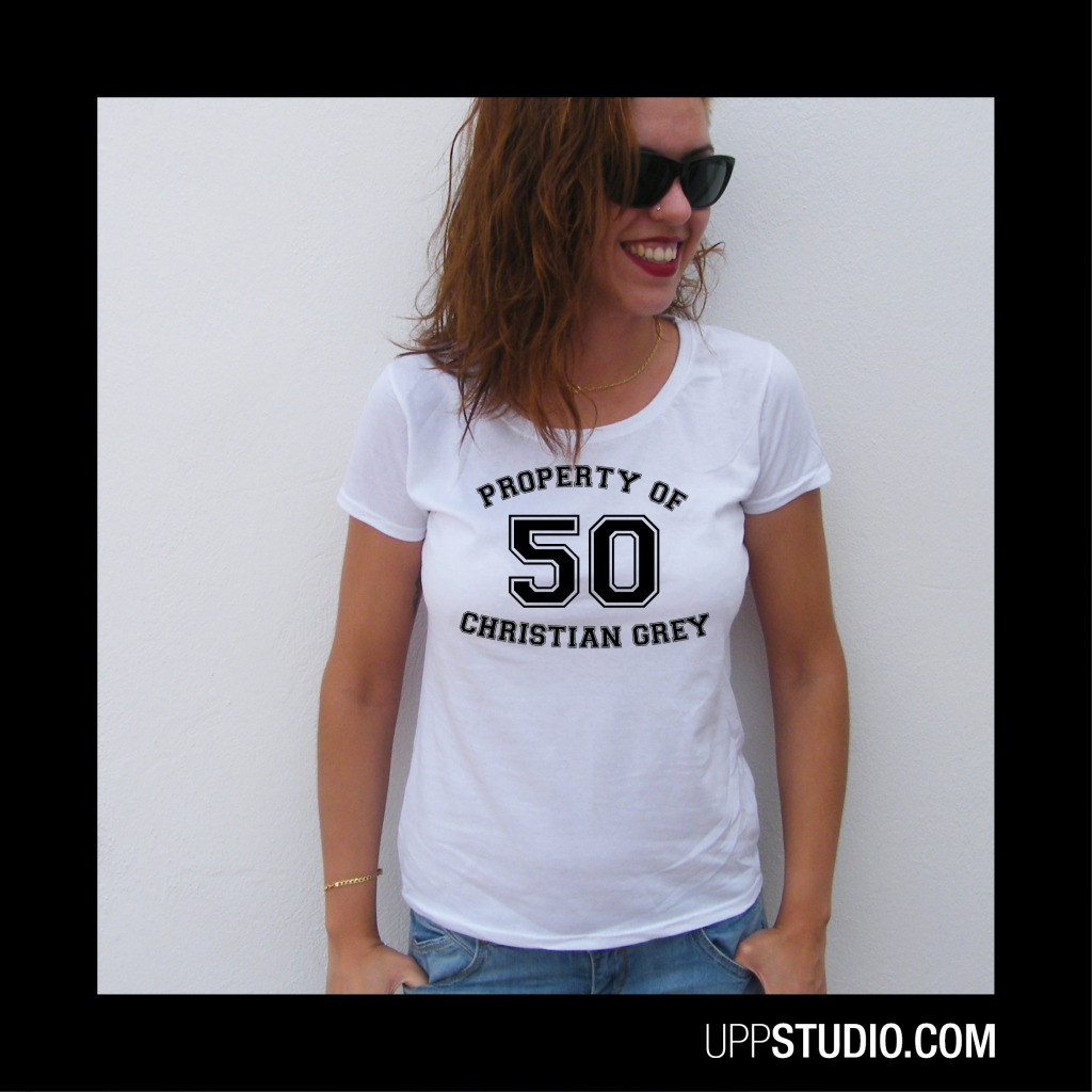 Camiseta 50 Sombras de Grey Property Of Christian Grey | UppStudio