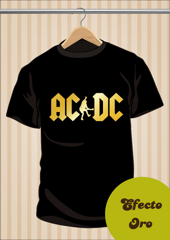 Camiseta ACDC T-Shirt Tee Angus Young