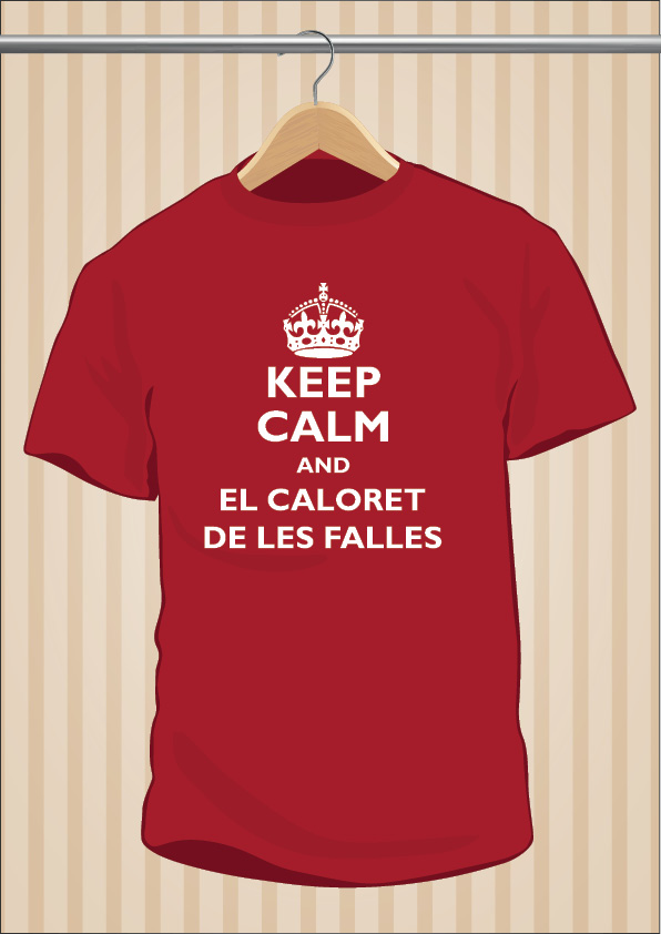 Camiseta Caloret Keep Calm And El Caloret De Les Falles Rita Barbera | UppStudio