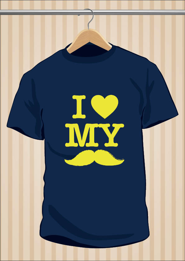 Camiseta I Love My Moustache Hipster
