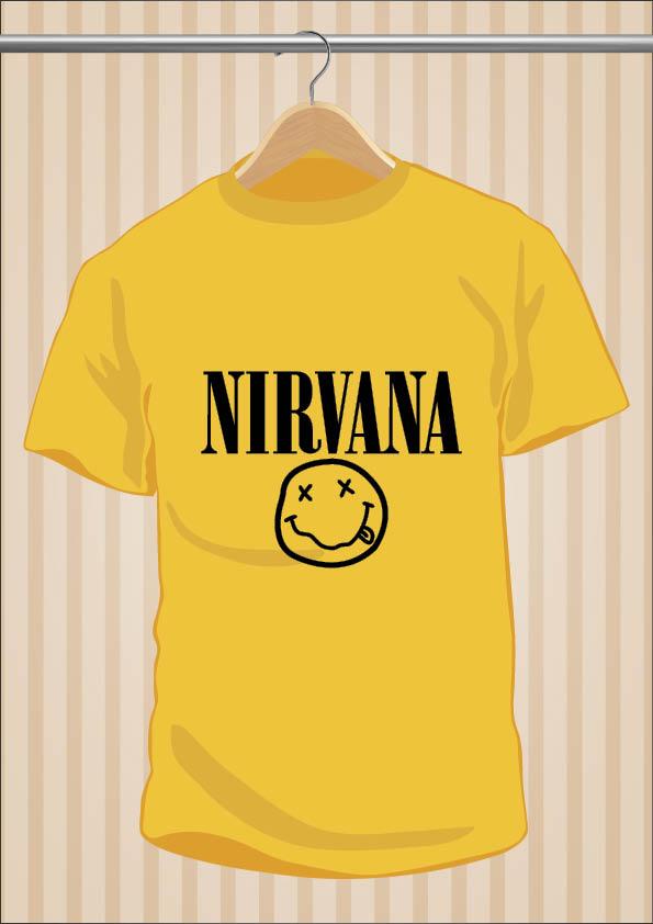 Camiseta Nirvana Kurt Cobain | UppStudio