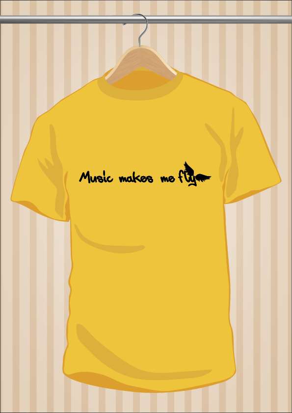 Camiseta Music Makes Me Fly | UppStudio