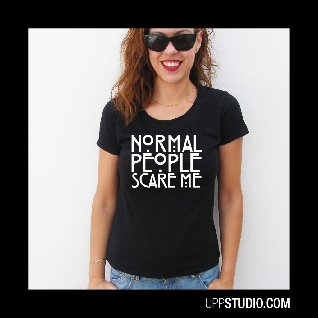Camiseta Normal People Scare Me T-Shirt American Horror Story Tee AHS Coven | UppStudio