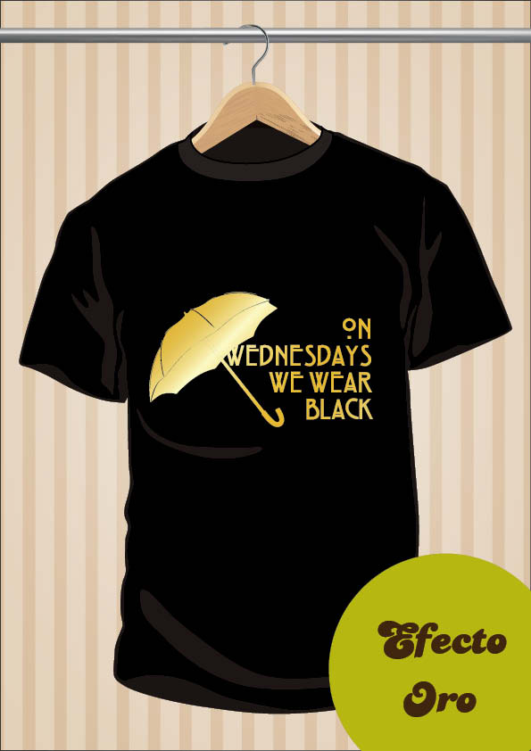 Camiseta On Wednesdays We Wear Black AHS Coven | UppStudio