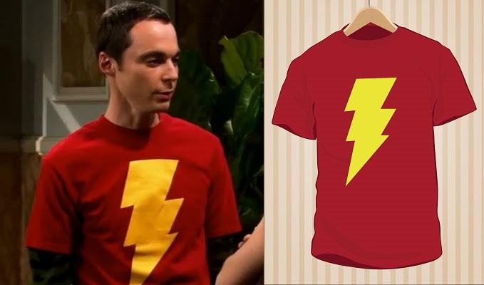 Camiseta Sheldon Cooper Shazam | UppStudio