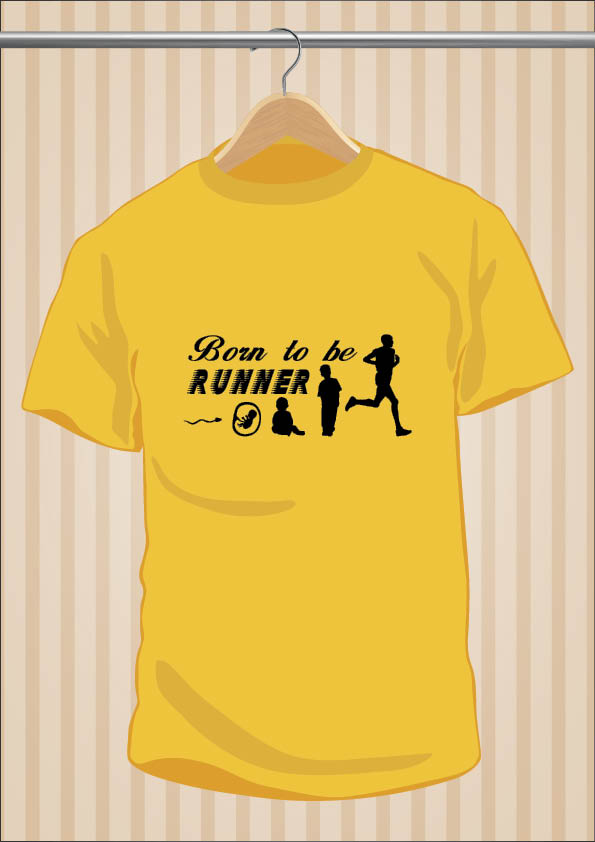 Camiseta Running | Born To Be Runner | UppStudio