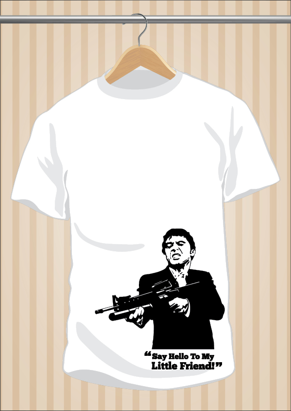 Camiseta Scarface | Say Hello To My Little Friend | UppStudio
