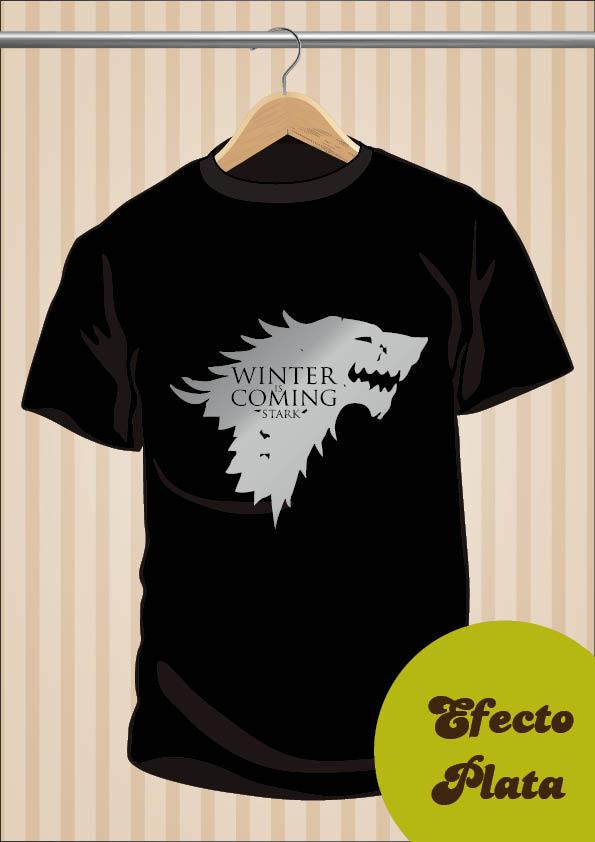 Camiseta Casa Stark Winter Is Coming | Juego De Tronos | UppStudio