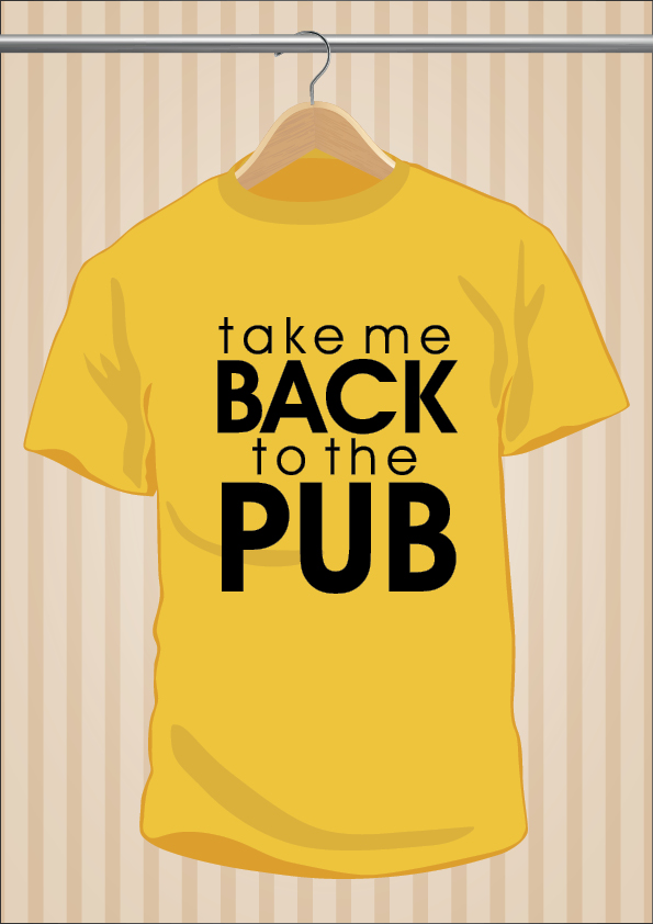 Camiseta De Borracho | Take Me Back To The Pub | UppStudio