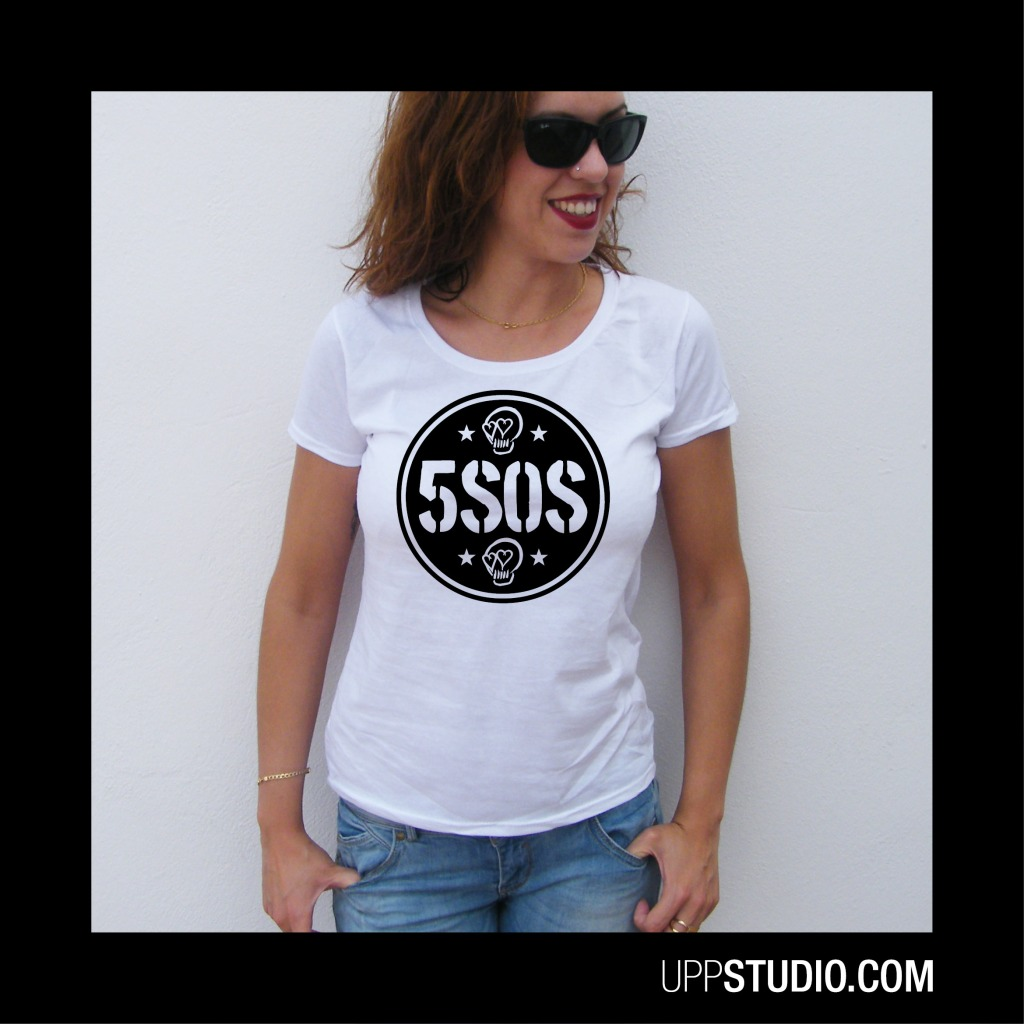 Camiseta Chica 5SOS Calaveras Skulls Girly T-Shirt 5 Seconds Of Summer | UppStudio