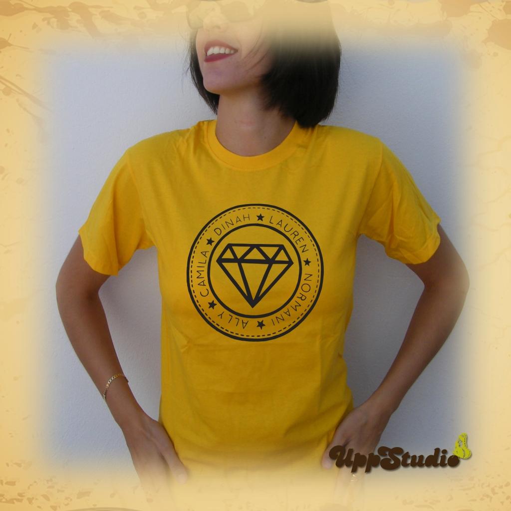 Camiseta Fifth Harmony Diamante Ally Brooke Camila Cabello Dinah Jane Hansen Lauren Jauregui Normani Kordei   UppStudio