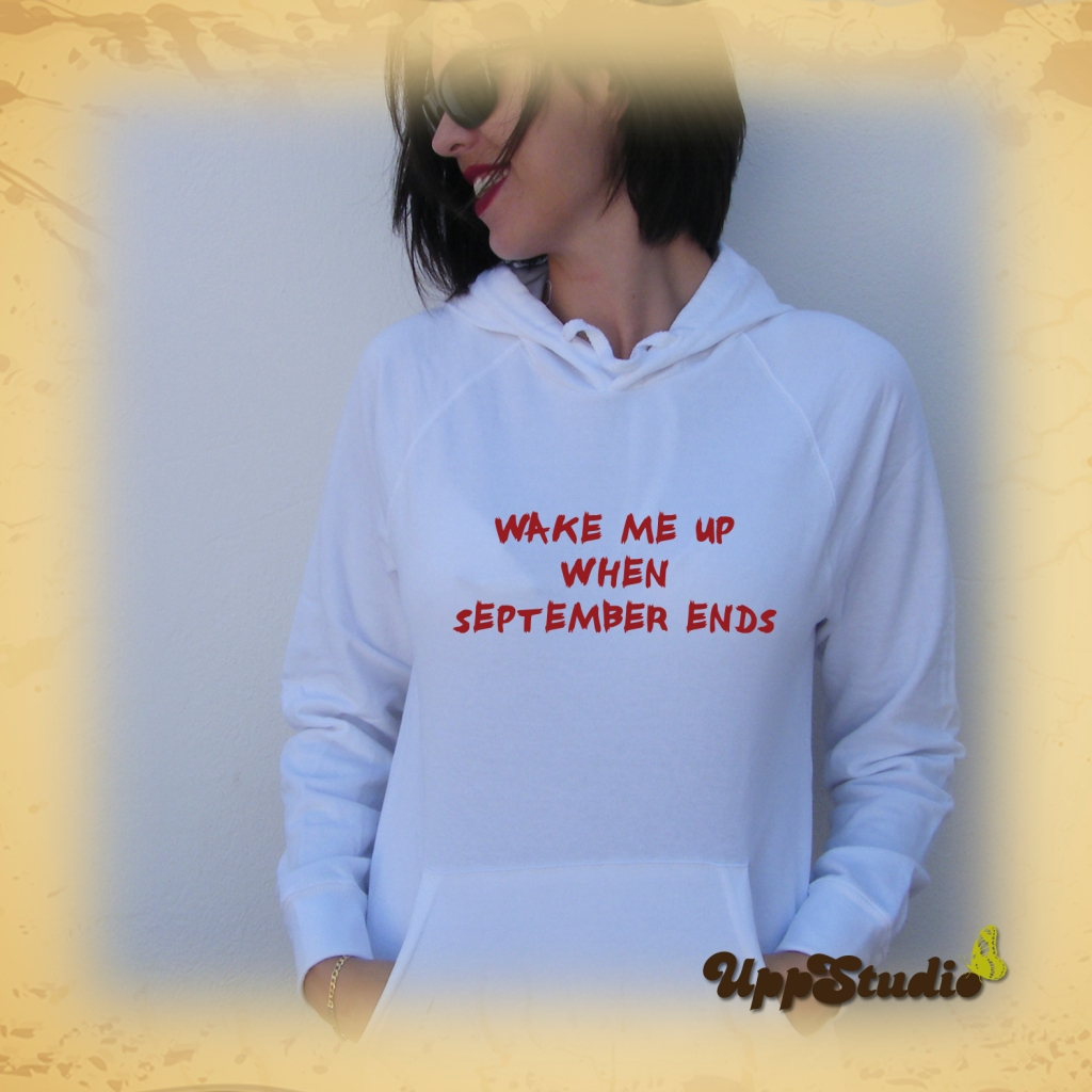 Sudadera Green Day Wake Me Up When September Ends | UppStudio