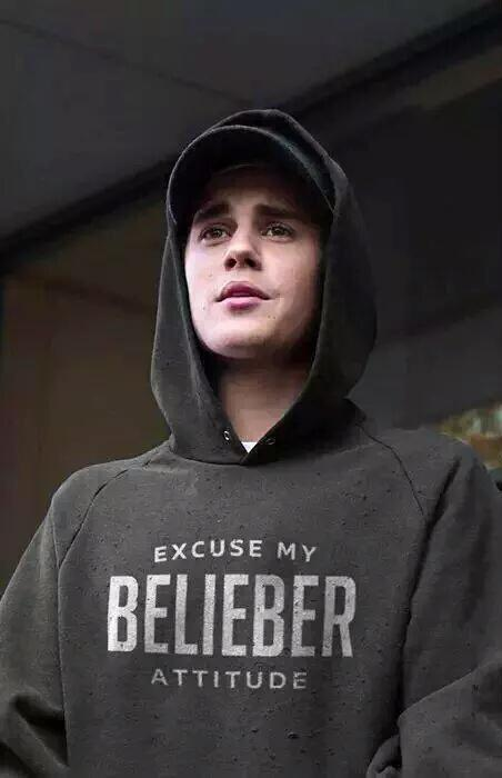 Sudadera Justin Bieber Excuse My Belieber Attitude | UppStudio