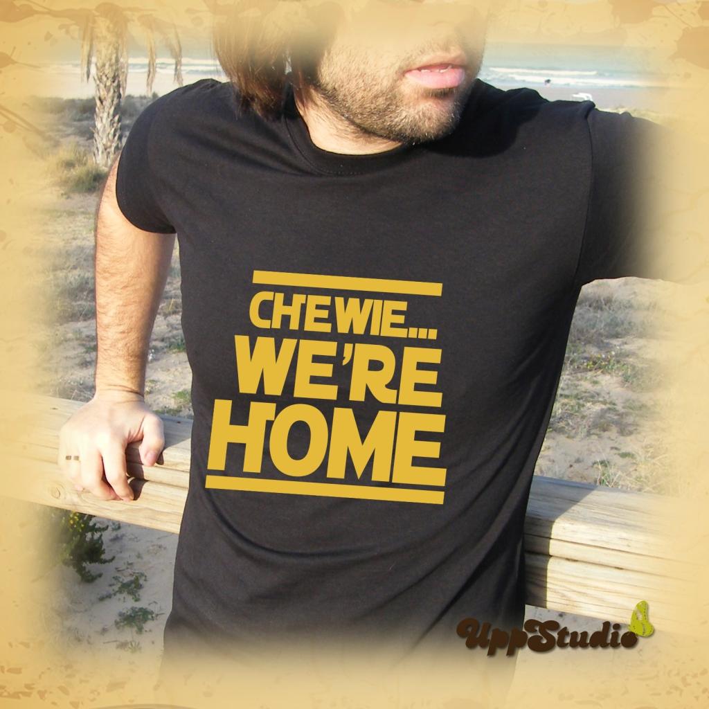 Camiseta Star Wars Chewie We're Home | La Guerra de las galaxias | The Force Awakens