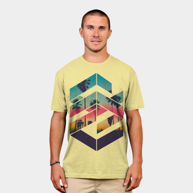 Geometric Sunset T-Shirt | Design By Humans