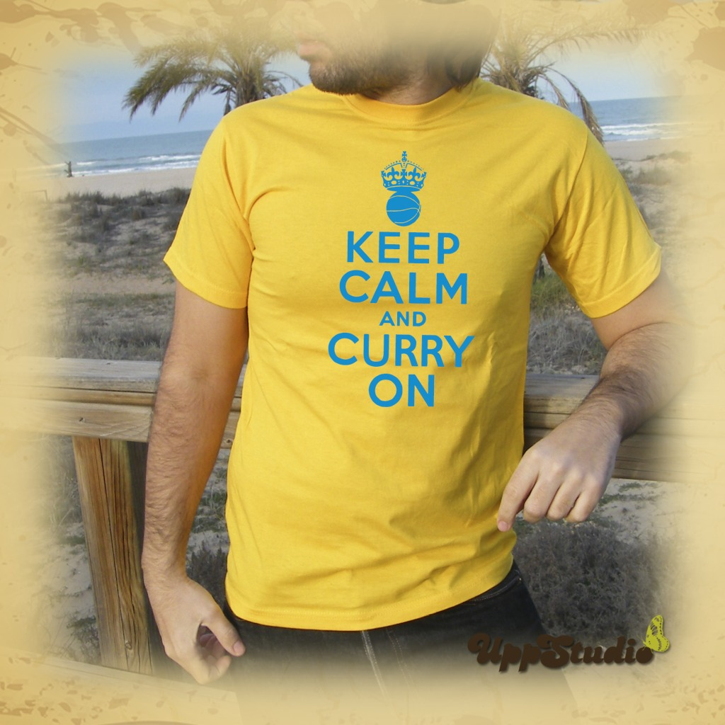 Camiseta Stephen Curry Keep Calm And Curry On | Golden State Warriors | UppStudio
