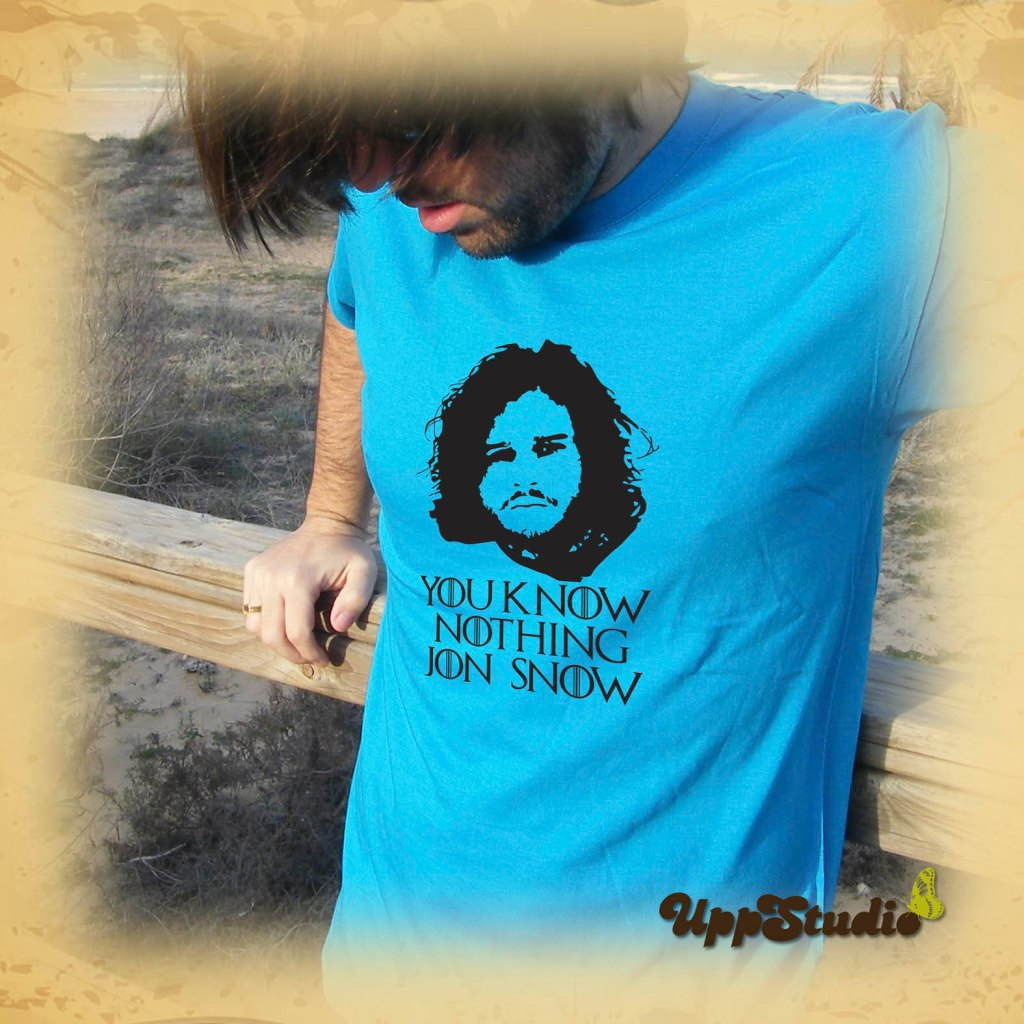 Camiseta You Know Nothing, Jon Snow  Game Of Thrones Juego De Tronos   UppStudio