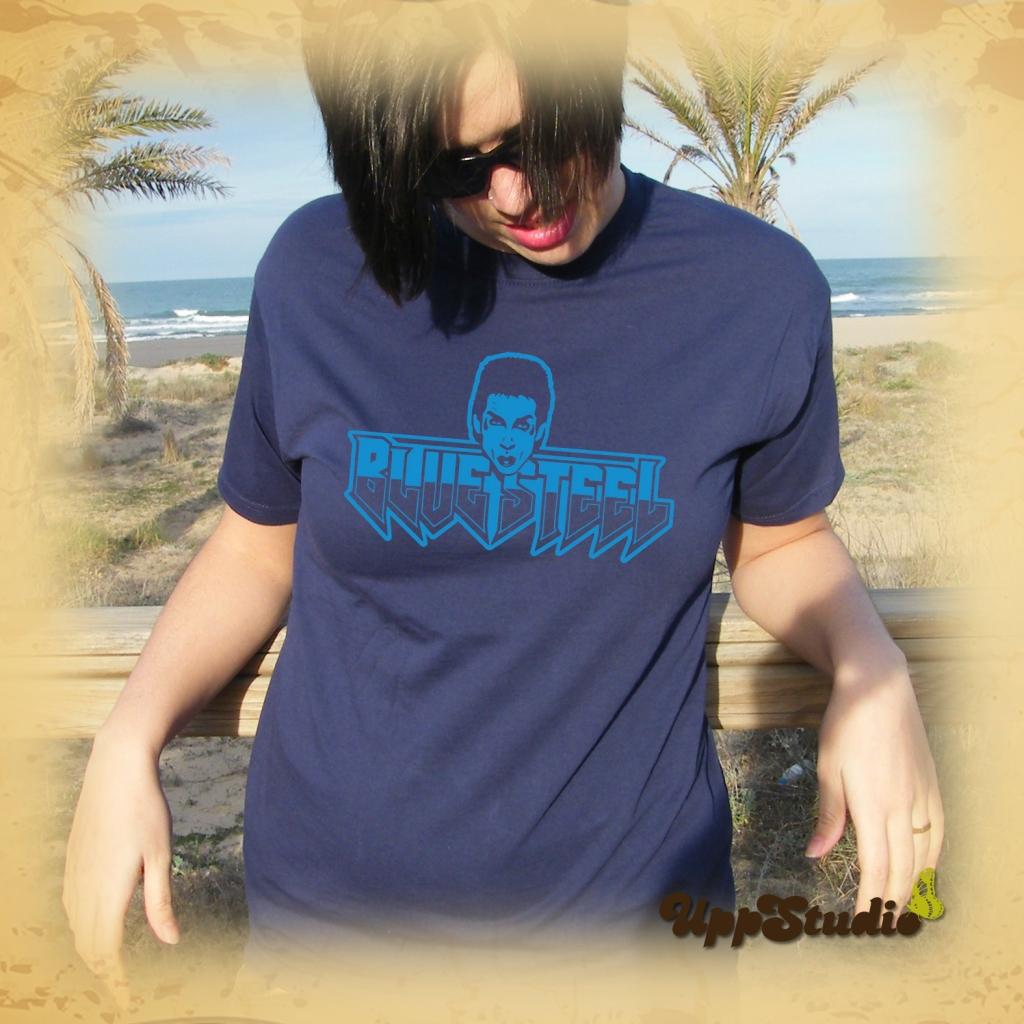 Camiseta Zoolander Acero Azul Blue Steel | UppStudio