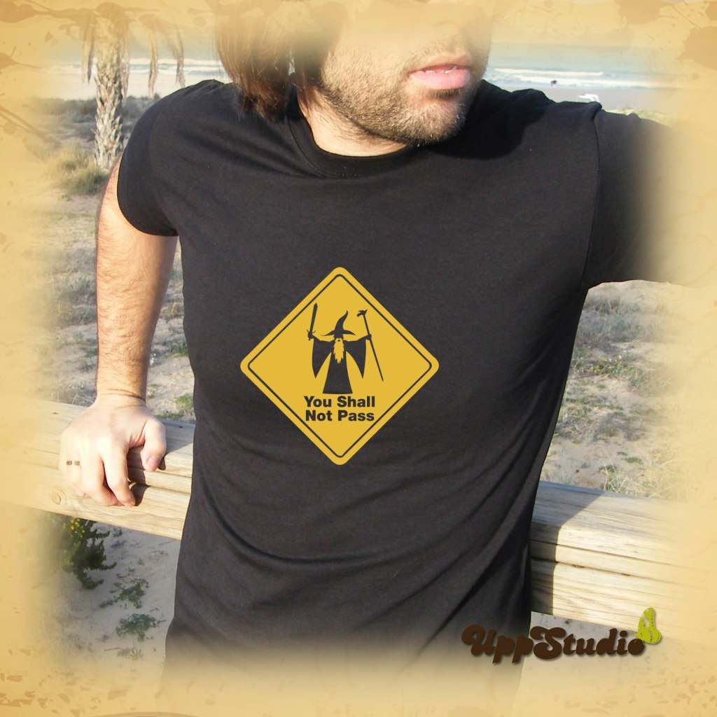 Camiseta El Señor De Los Anillos You Shall Not Pass Lord Of The Rings Gandalf | ESDLA | UppStudio