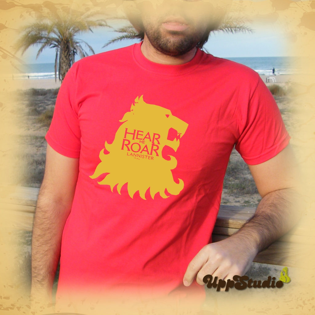 Camiseta Juego De Tronos Hear Me Roar Lannister | Game Of Thrones | UppStudio