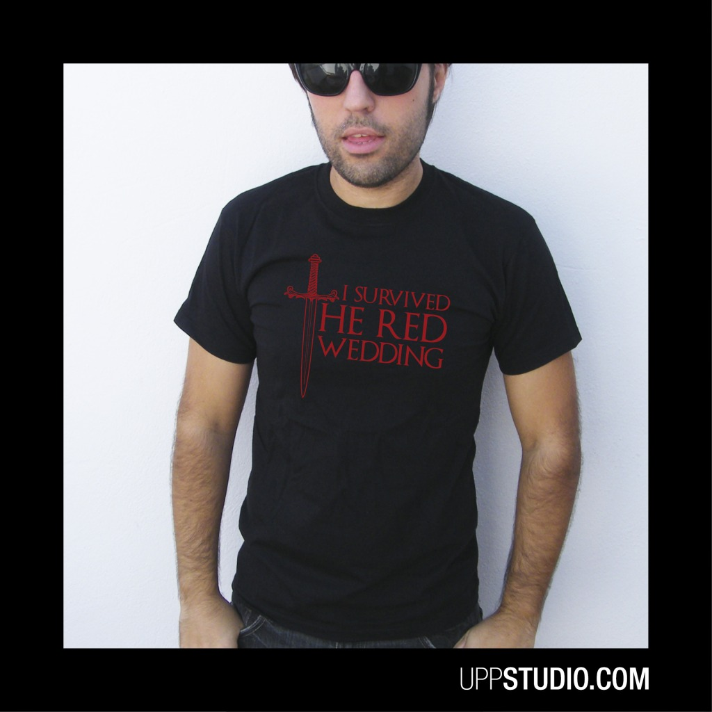 Camiseta Juego De Tronos I Survived The Red Wedding Game Of Thrones | UppStudio