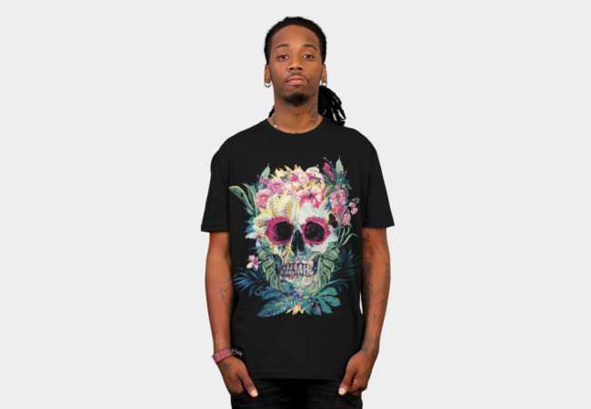 Camiseta Flower Skull | Design By Humans