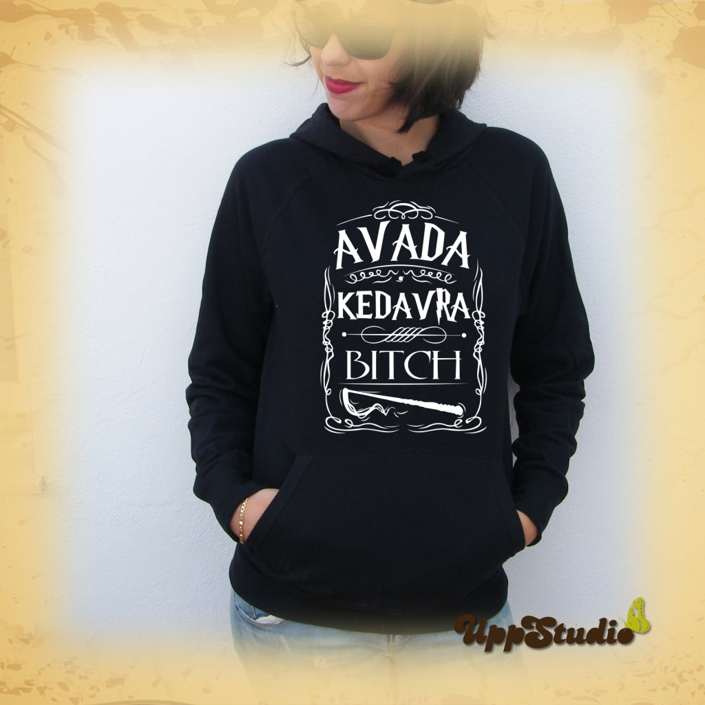 Sudadera Avada Kedavra Bitch Harry Potter | UppStudio